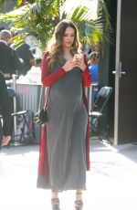 Pregnant JESSICA ALBA Arrives at Lyft Community Holiday Fiesta in Los Angeles 12/17/2017