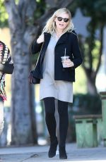 Pregnant KIRSTEN DUNST Out for Lunch in Los Angeles 12/21/2017