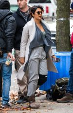 PRIYANKA CHOPRA on the Set of Quantico in New York 12/06/2017