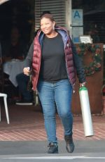 QUEEN LATIFAH Out for Lunch at Mauro