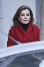QUEEN LETIZIA OF SPAIN Out in Madrid 12/21/2017