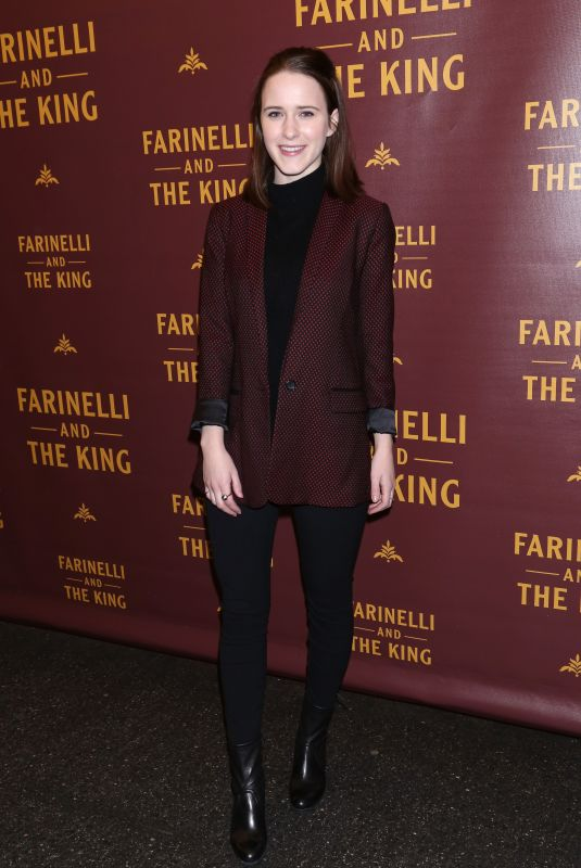 RACHEL BROSNAHAN at Farinelli and the King Broadway Opening Night in New York 12/17/2017