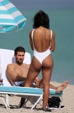 RACHEL LINDSAY in Swimsuit at a Beach in Miami 12/21/2017