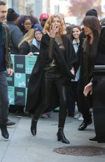 RENE RUSSO Arrives at Build Series in New York 12/04/2017