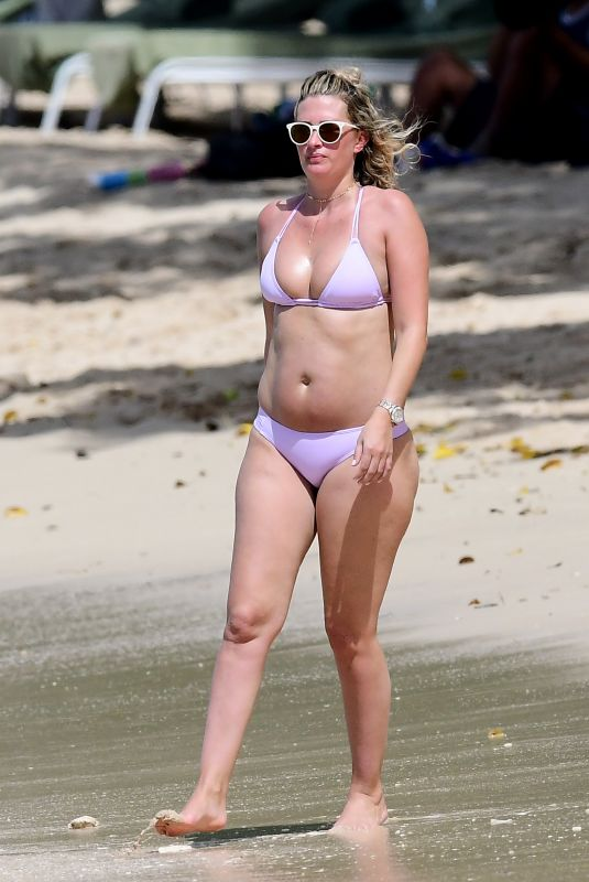 RHEA DURHAM in Bikini at a Beach in Barbados 12/28/2017