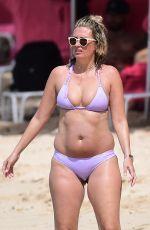 RHEA DURHAM in Bikini at a Beach in Barbados 12/28/2017