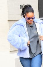 RIHANNA Out and About in New York 12/09/2017
