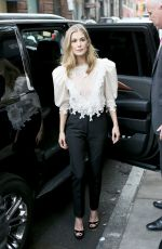 ROSAMUND PIKE Arrives at AOL Build Series in New York 12/18/2017