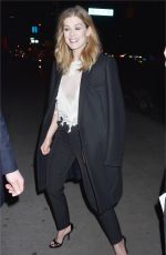 ROSAMUND PIKE Night Out in New York 12/17/2017