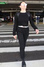 ROSE MCGOWAN at LAX Airport in Los Angeles 12/04/2017