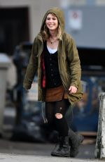 ROSE REYNOLDS on the Set of Once Upon a Time, Season 7 in Vancouver 12/21/2017