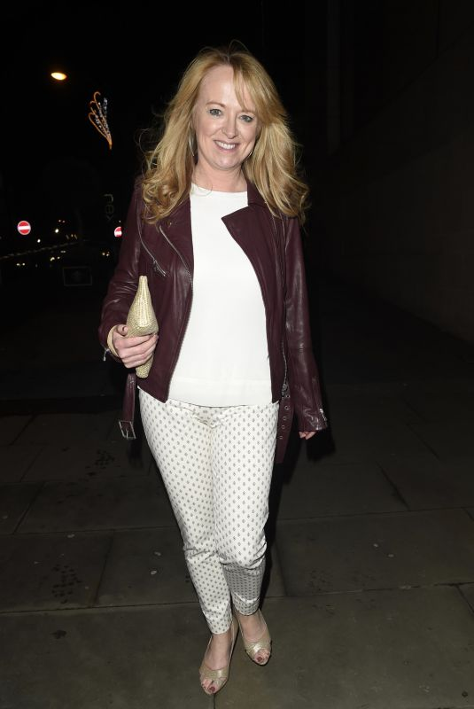 SALLY ANN MATHEWS at Coronation Street Christmas Party in Manchester 12/08/2017