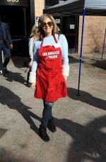 SANDRA TAYLOR at LA Mission Serves Christmas to the Homeless in Los Angeles 12/22/2017