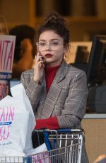 SARAH HYLAND Out Shopping in Los Angeles 12/04/2017