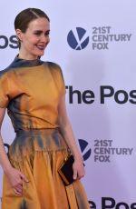 SARAH PAULSON at The Post Premiere in Washington 12/14/2017