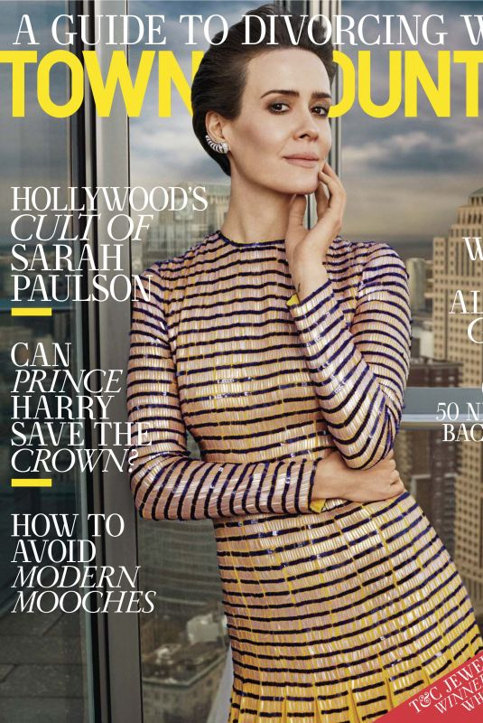 SARAH PAULSON in Town & Country Magazine, February 2018 Issue