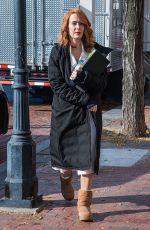 SARAH PAULSON on the Set of Glass in Philadelphia 12/04/2017