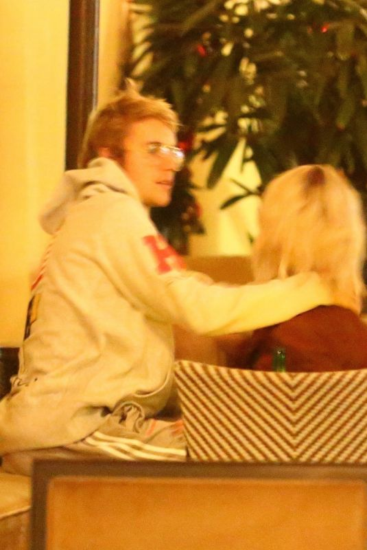 SELENA GOMEZ and Justin Bieber at Montage Hotel in Beverly Hills 11/29/2017