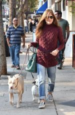 SELMA BLAIR Out with Her Dogs in Studio City 12/16/2017