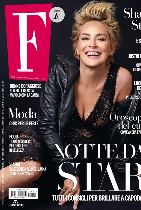 SHARON STONE in F n.52 Magazine, January 2018