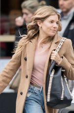 SIENNA MILLER Out in New York 12/05/2017