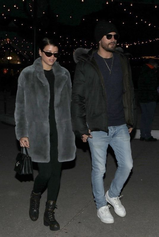 SOFIA RICHIE and Scott Disick Night Out in Aspen 12/30/2017