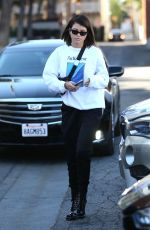 SOFIA RICHIE Arrives at Meche Salon in Los Angeles 12/21/2017