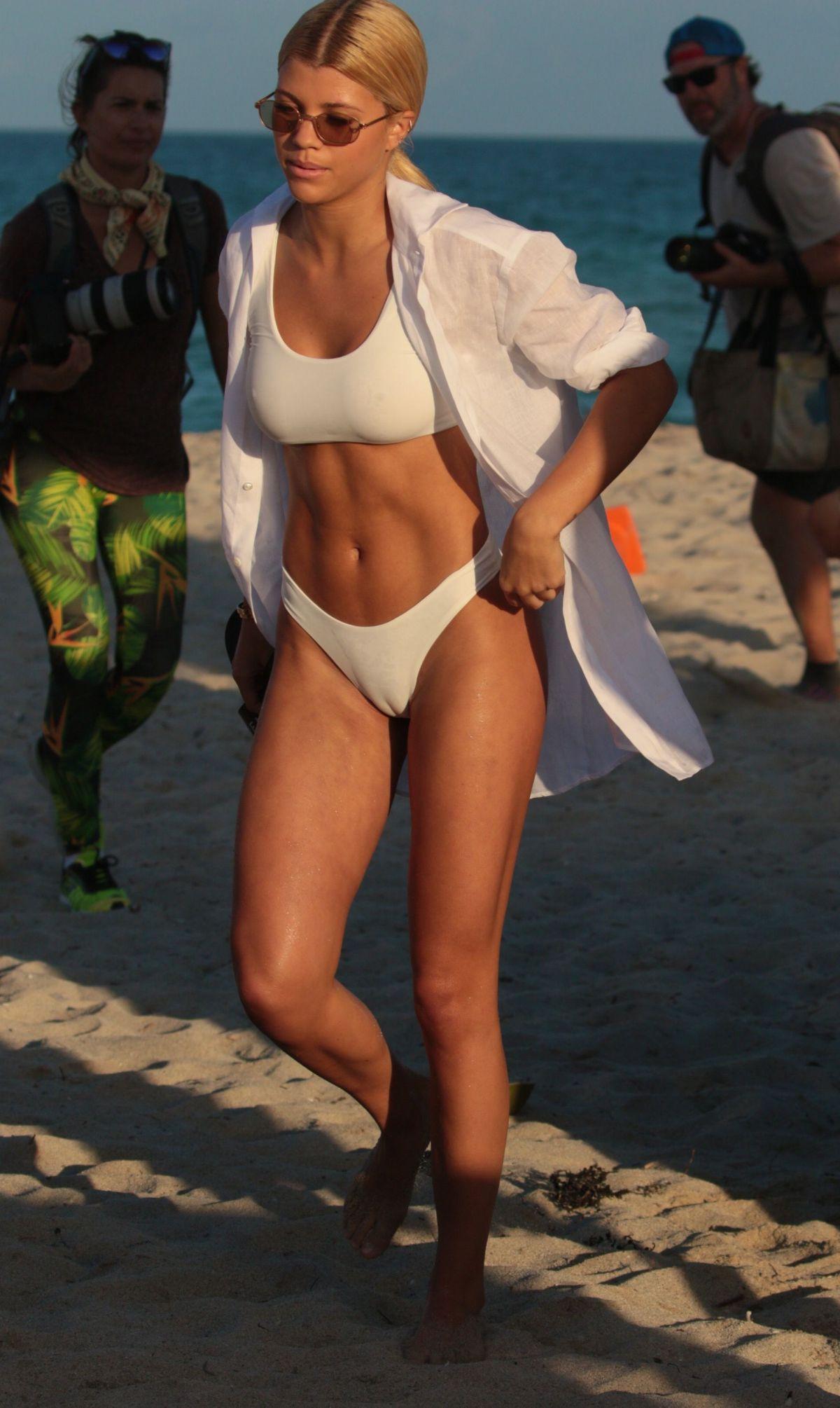 Danielle Herrington and Raven Lyn in Bikini at a Miami Beach Pic 6 of 35