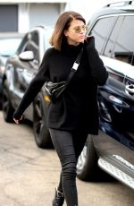 SOFIA RICHIE Shows off New Brunette Hair Out in Beverly Hills 12/20/2017