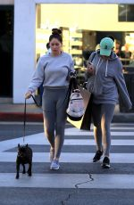 SOPHIA and OLIVIA PIERSON Out Shopping in Beverly Hills 12/01/2017
