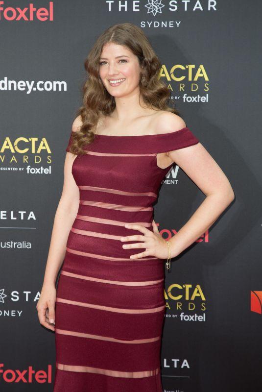 SOPHIE HAWKSHAW at 2017 AACTA Awards in Sydney 12/06/2017