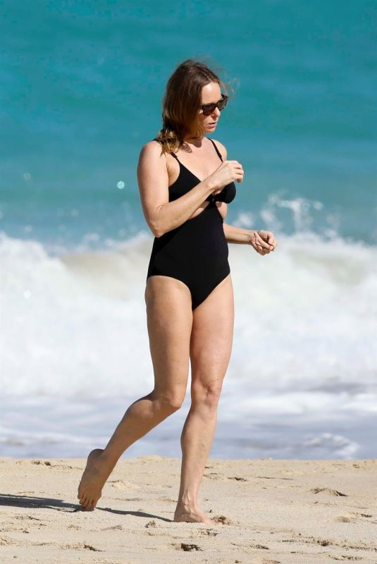 STELLA MCCARTNEY in Swimsuit at a Beach in St. Barts 12/29/2017