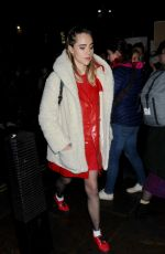 SUKI WATERHOUSE at #freeperiods Protest in London 12/20/2017