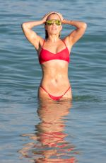 SYLIVE MEIS in Red Bikini at a Beach in Miami 12/30/2017