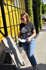 TANYA BURR in Jeans Out and About in West Hollywood 11/30/2017