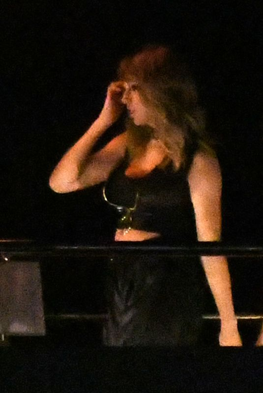 TAYLOR SWIFT and Future on the Set of Her New Music Video at Luxury Yacht in Miami 12/19/2017