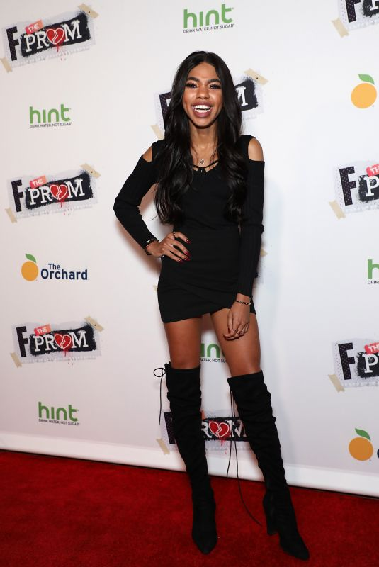TEALA DUNN at F the Prom Premiere in Hollywood 11/29/2017