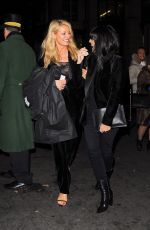 TESS DALY and CLAUDIA WINKLEMAN Leaves Dorchester Hotel in London 11/29/2017