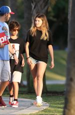 THYLANE BLONDEAU in Jeans Shorts Out in Miami 12/23/2017