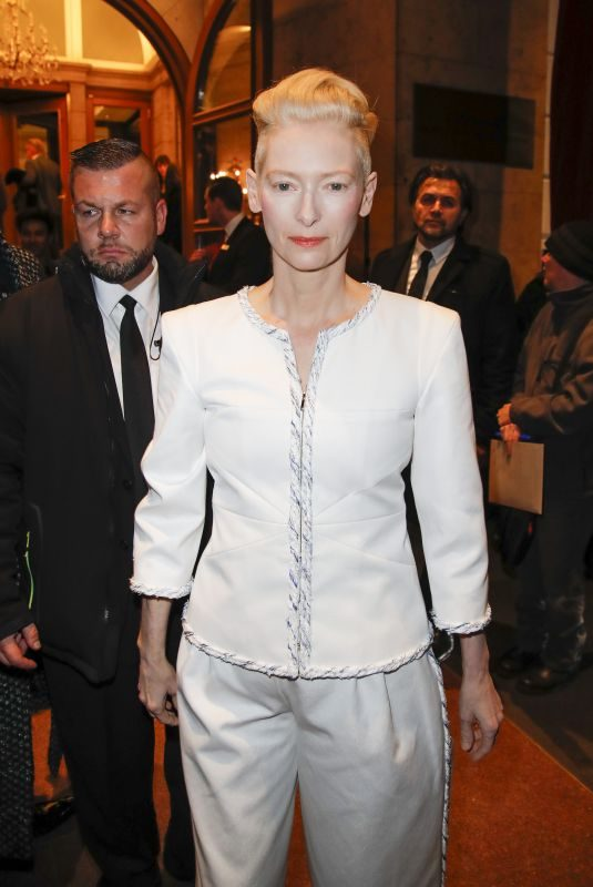 TILDA SWINTON at Chanel Metiers D'Art Collection Fashion Show in Hamburg 12/06/2017