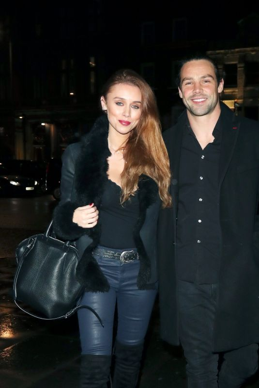 UNA HEALY and Ben Foden at Mahiki in London 12/02/2017