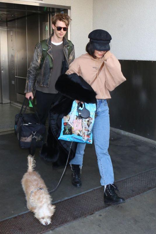 VANESSA HUDGENS and Austin Butler at Los Angeles International Airport 12/16/2017