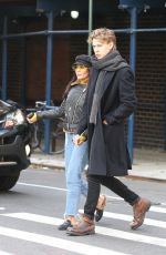 VANESSA HUDGENS and Austin Butler Out for Lunch in New York 12/02/2017