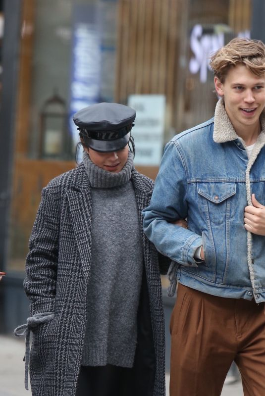 VANESSA HUDGENS and Austin Butler Out in New York 12/03/2017