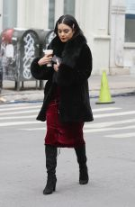 VANESSA HUDGENS Having Coffee Break to the Set of Second Act in New York 12/15/2017