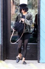 VANESSA HUDGENS Heading to a Gym in Los Angeles 12/20/2017