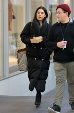 VANESSA HUDGENS on the Set of Second Act at World Trade Center in New York 11/30/2017