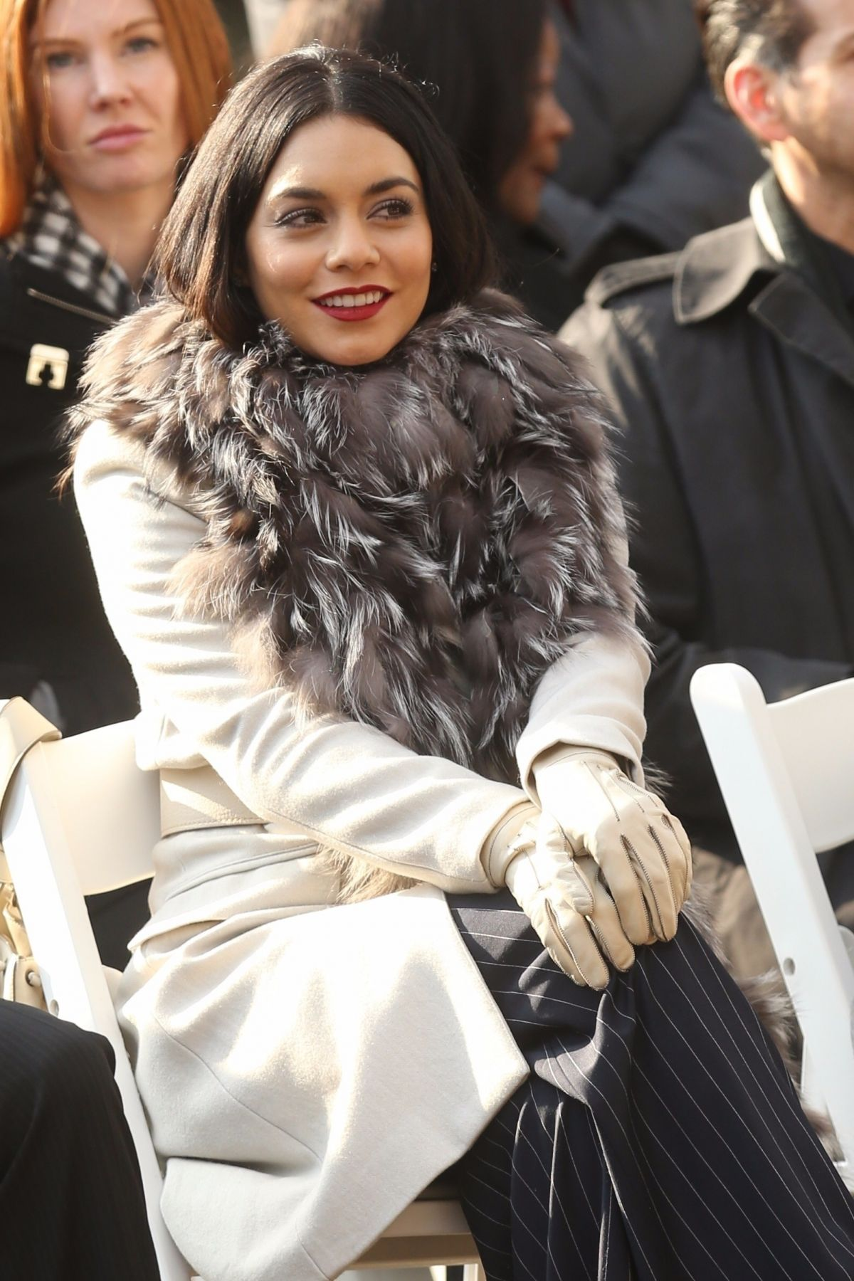 VANESSA HUDGENS on the Set of Second Act in New York 12/04 ...