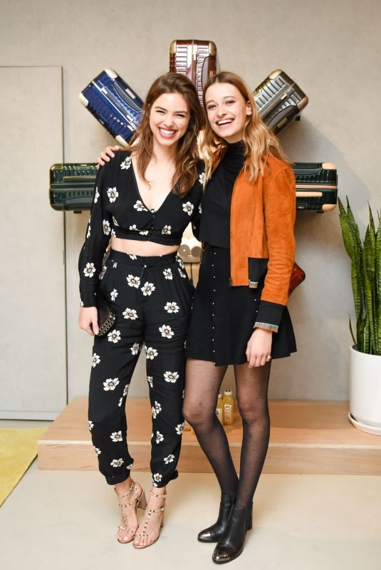 VERONICA ZOPPOLO and JADE DE LAVAREILLE at Rimowa x Alexandre Arnault Pop-up Event in Los Angeles 12/12/2017