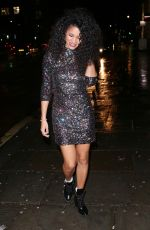 VICK HOPE Arrives at Global Radio Christmas Party in London 12/13/2017